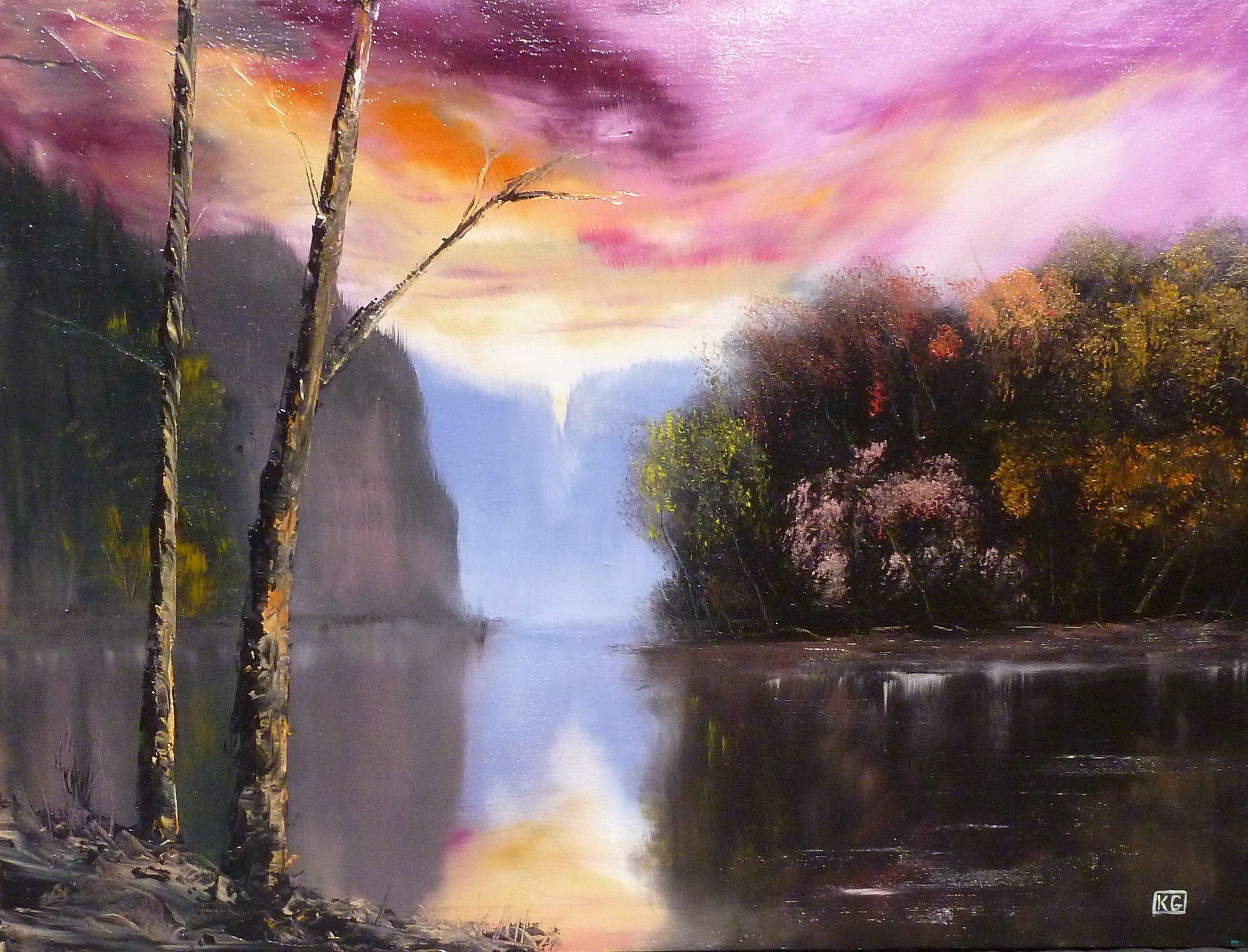 Lagoon  18 x 24 inch oil on canvas
