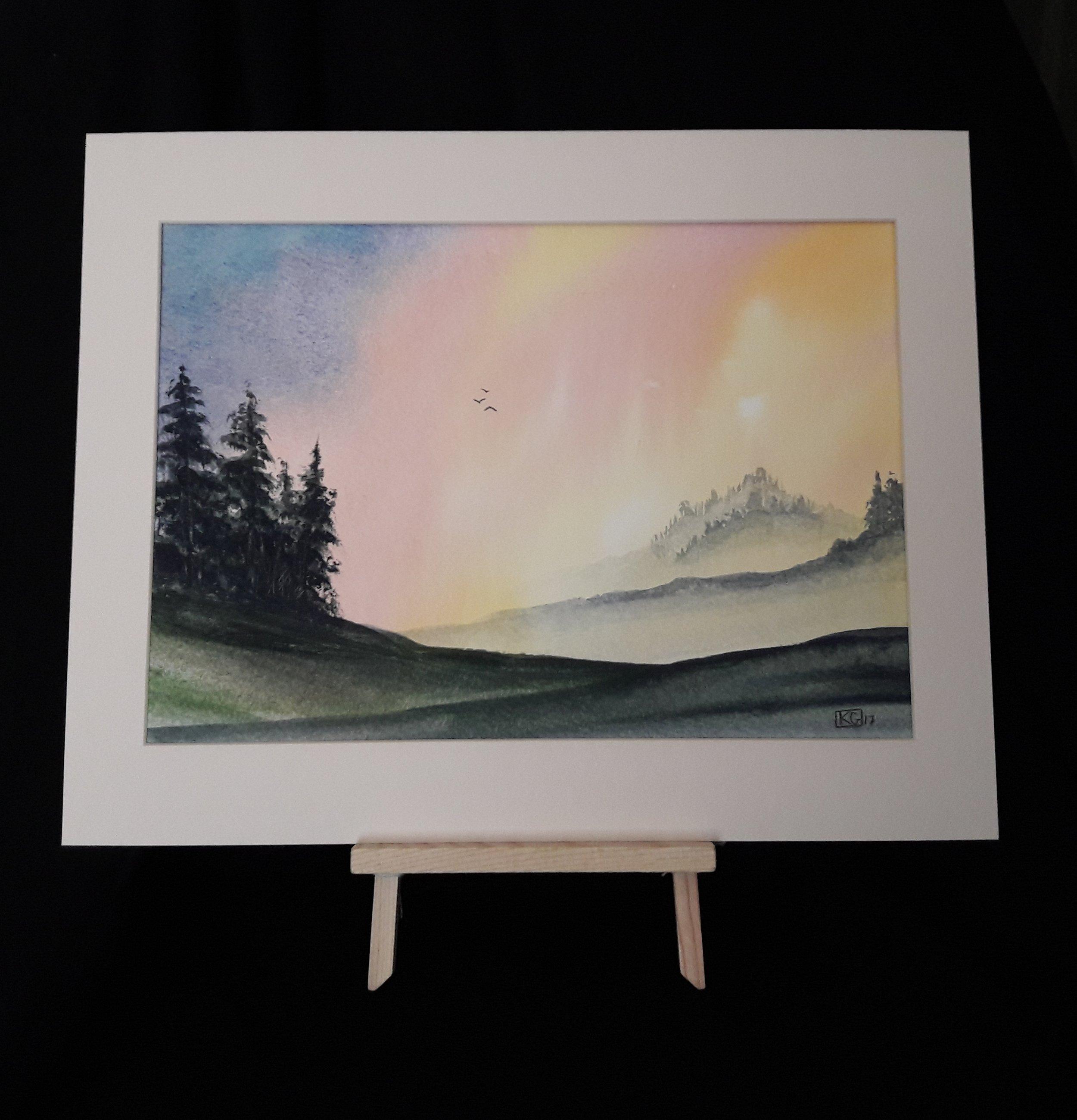 Blazing horizon   8 x 10 inch watercolour