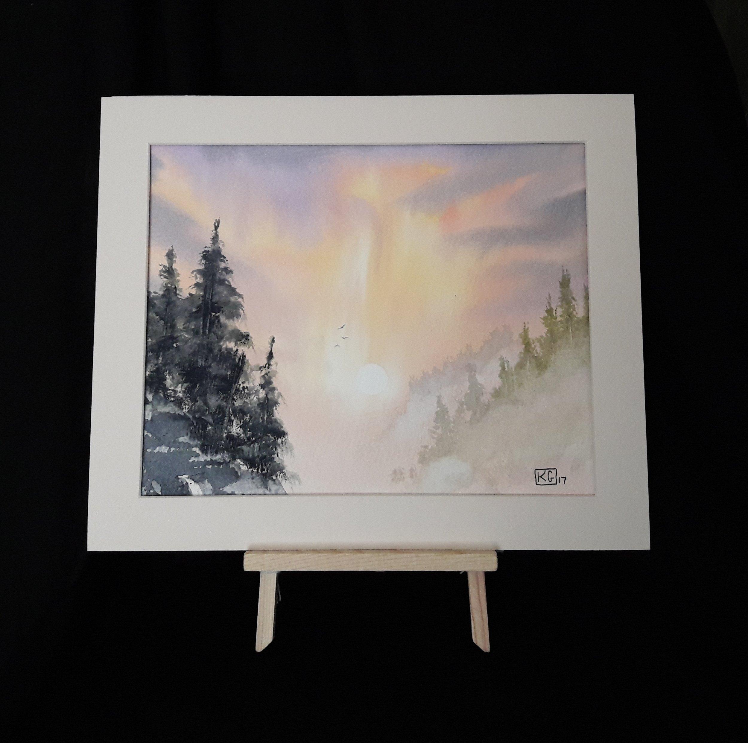 Canyon  8 x 10 inch watercolour