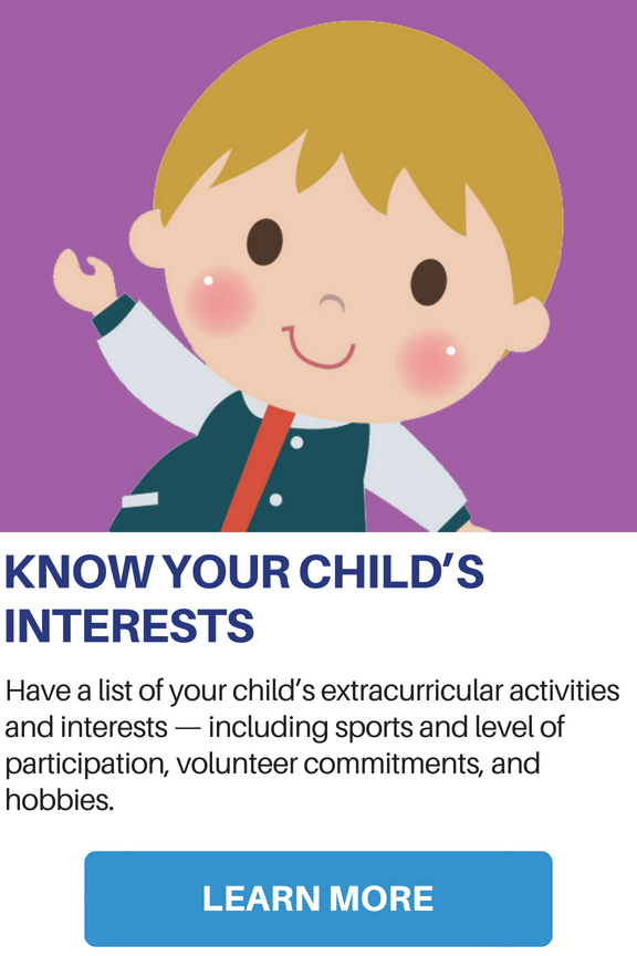 Know Your Child's Interests