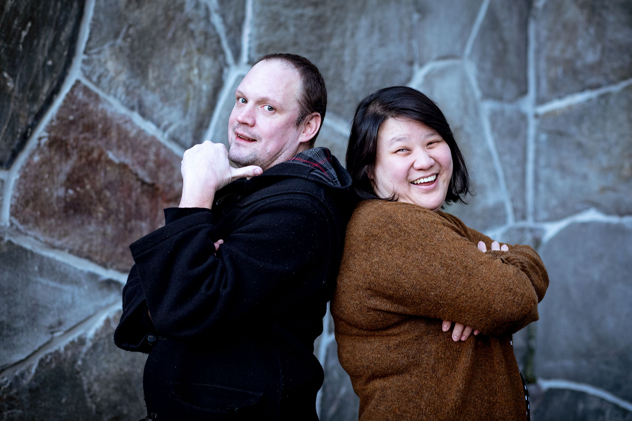 Jonatan Unge and Evelyn Mok. Photo by Saerun Norén.