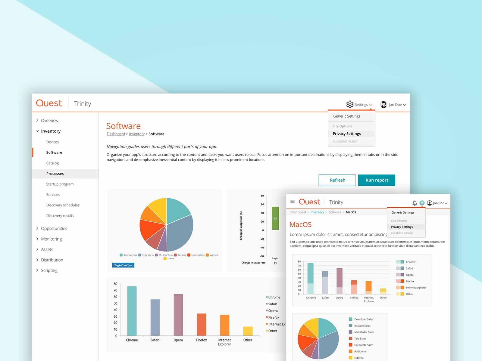 SaaS Product UI Visual Design + Branding -