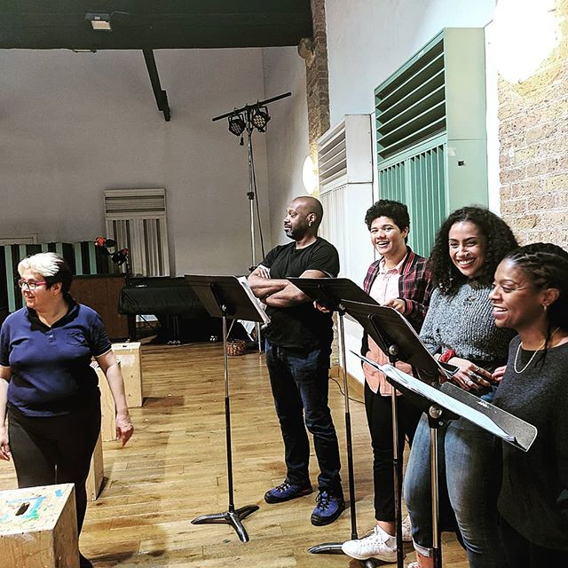 In rehearsal for the opera Imoinda - part of the 7th Festival of American Music. Libretto by #joananimaddo, score by #odalinedelamartinez. Come and see us! #londonfestivalofamericanmusic  #voices  #opera  #singingyourstories  https://www.eventbrite.co.uk/e/imoinda-a-story-of-love-and-slavery-the-7th-london-festival-of-american-music-tickets-54357059428?aff=ampmlt&_gl=1*1axgc2g*_ga*YW1wLWI0N2hNdzZ4X1JWMldoOVRqcTE3ZUdUczhQS2ZTdm5wZzJ6TjM5UzlfTG5PemhmTWNLekJJMDJCWWIyUjE4Qmc