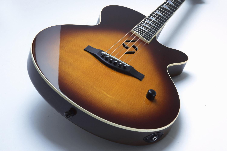 Case J2 semi-hollow guitar