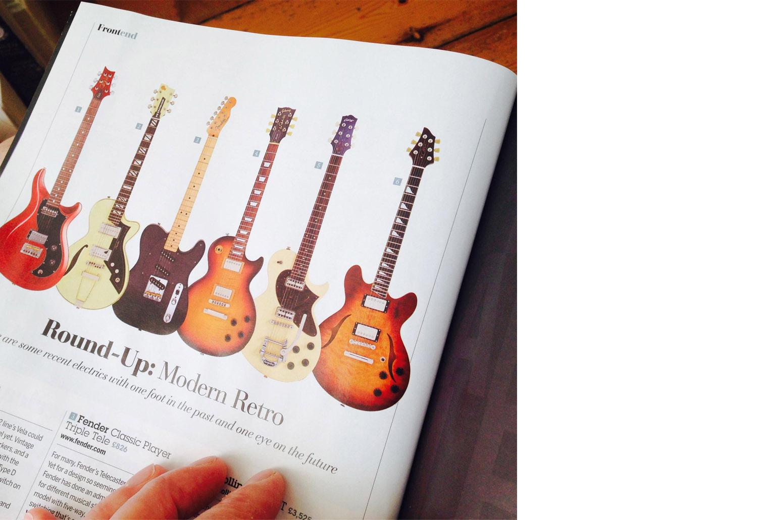 J25 Semi-hollow in Guitarist magazine