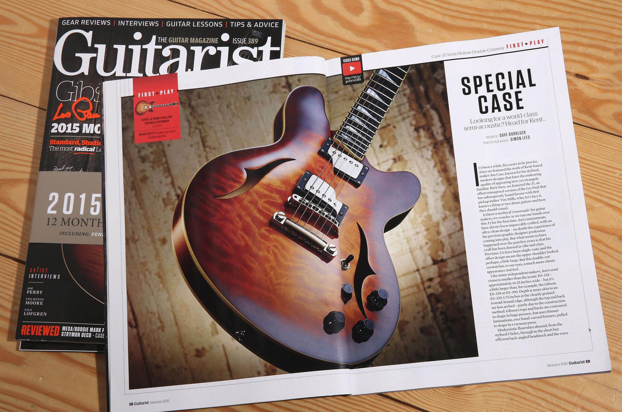 Case J25 semi hollow review Guitarist Magazine