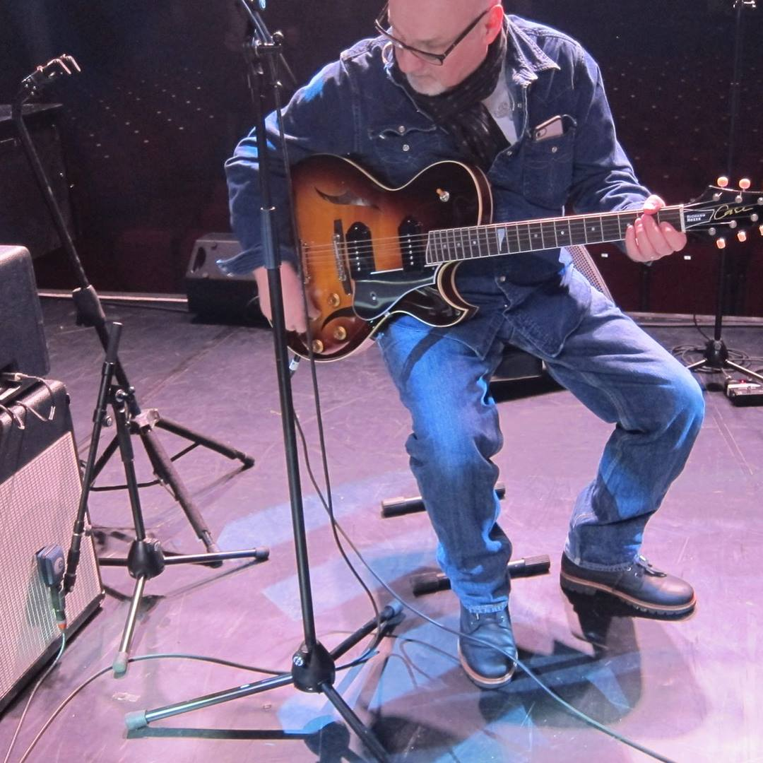 Paul Carrack with Case Guitar