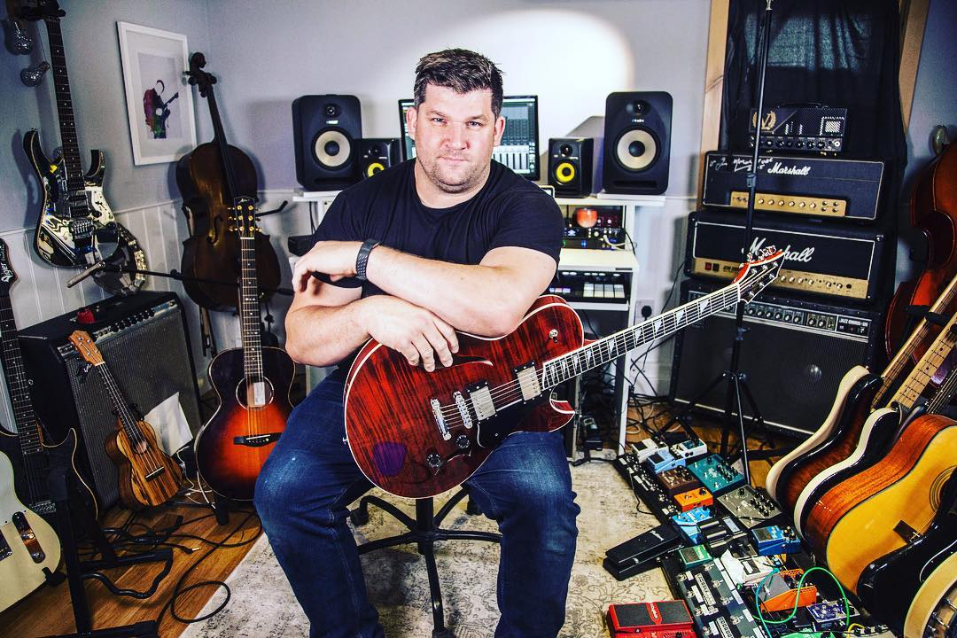 """Dudley Ross - Guitarist and ComposerDudley has toured with bands, theatre shows and as a solo artist around the world.""""I can't express how much this guitar is talking to me""""!J3F Thinline"""