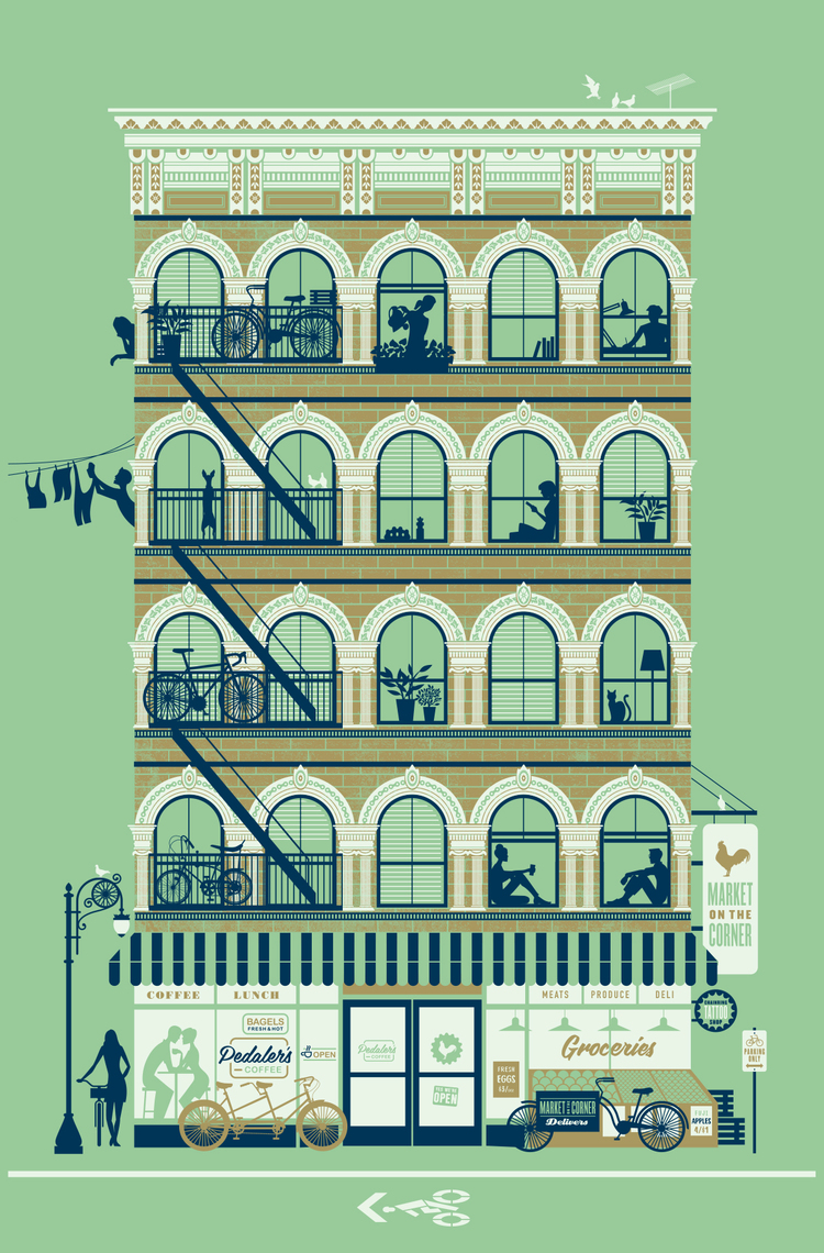 Jeremy Slagle - 3 color Screenprint