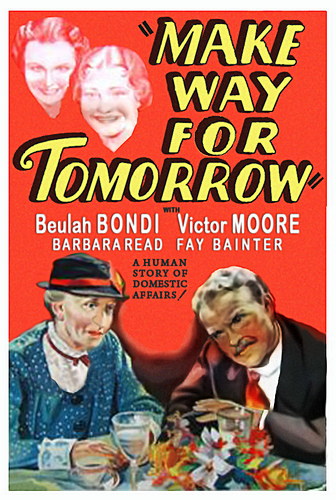 Make Way for Tomorrow  (1937) was McCarey's personal favorite, and it's an incredible movie that more people should see. A stone really would cry.