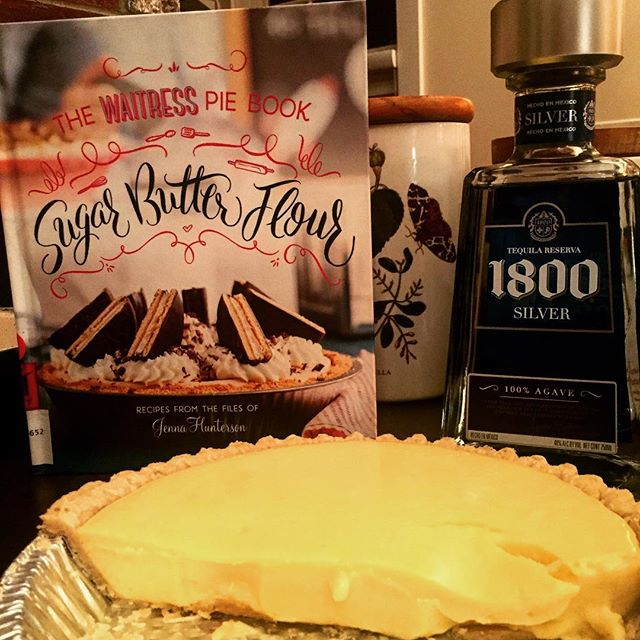 Thank you @waitressmusical for your awesome cookbook that taught me that #tequila can be used as an ingredient to make #keylimepie! Truly a revelation. Check out their book for other delectable recipes! #waitressmusical #sugarbutterflour #keylimepie #piemaking #whatbakingcando #baking #keytohappiness #maine #thewaylifeshouldbe #vacationland #tequila #1800silvertequila #1800tequila