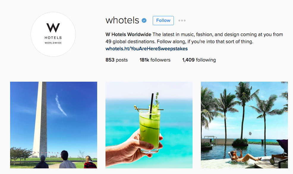 Instagram @Whotels