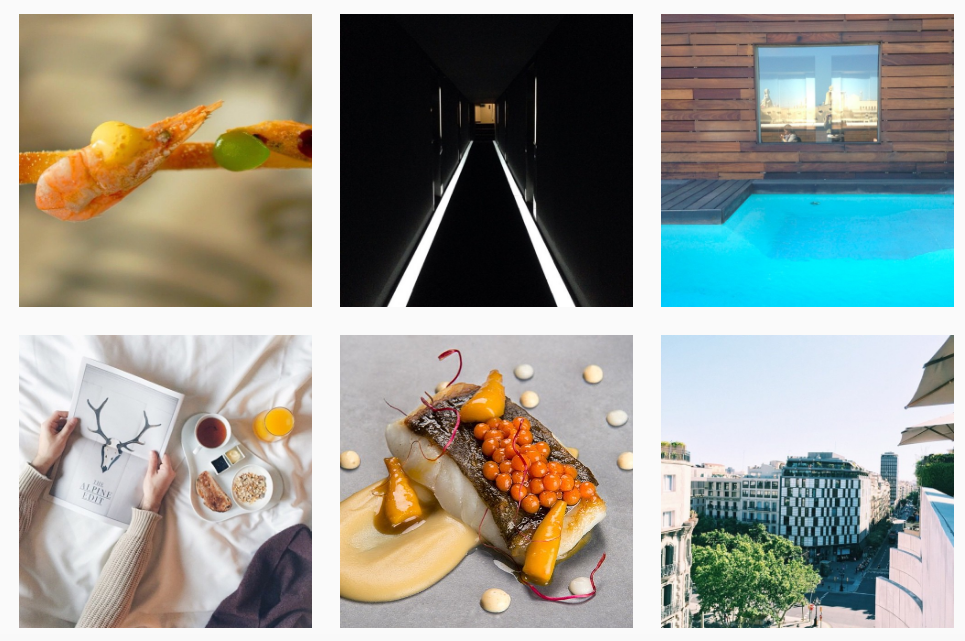 Instagram  @hotelomm  ( Hotel Omm in Barcelona is home to the Michelin star restaurant, Moca Roo)