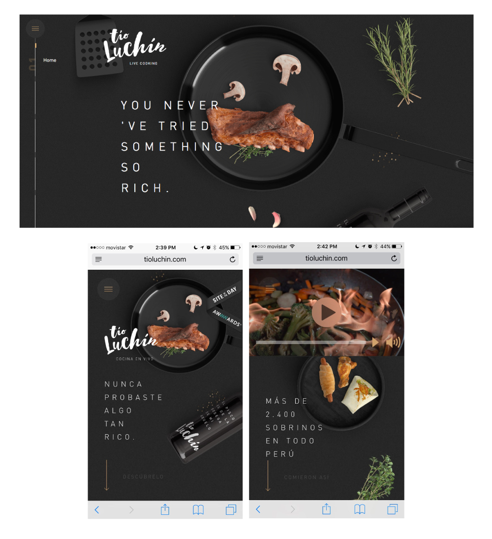 Website of  TioLuchin  Restaurant 2017
