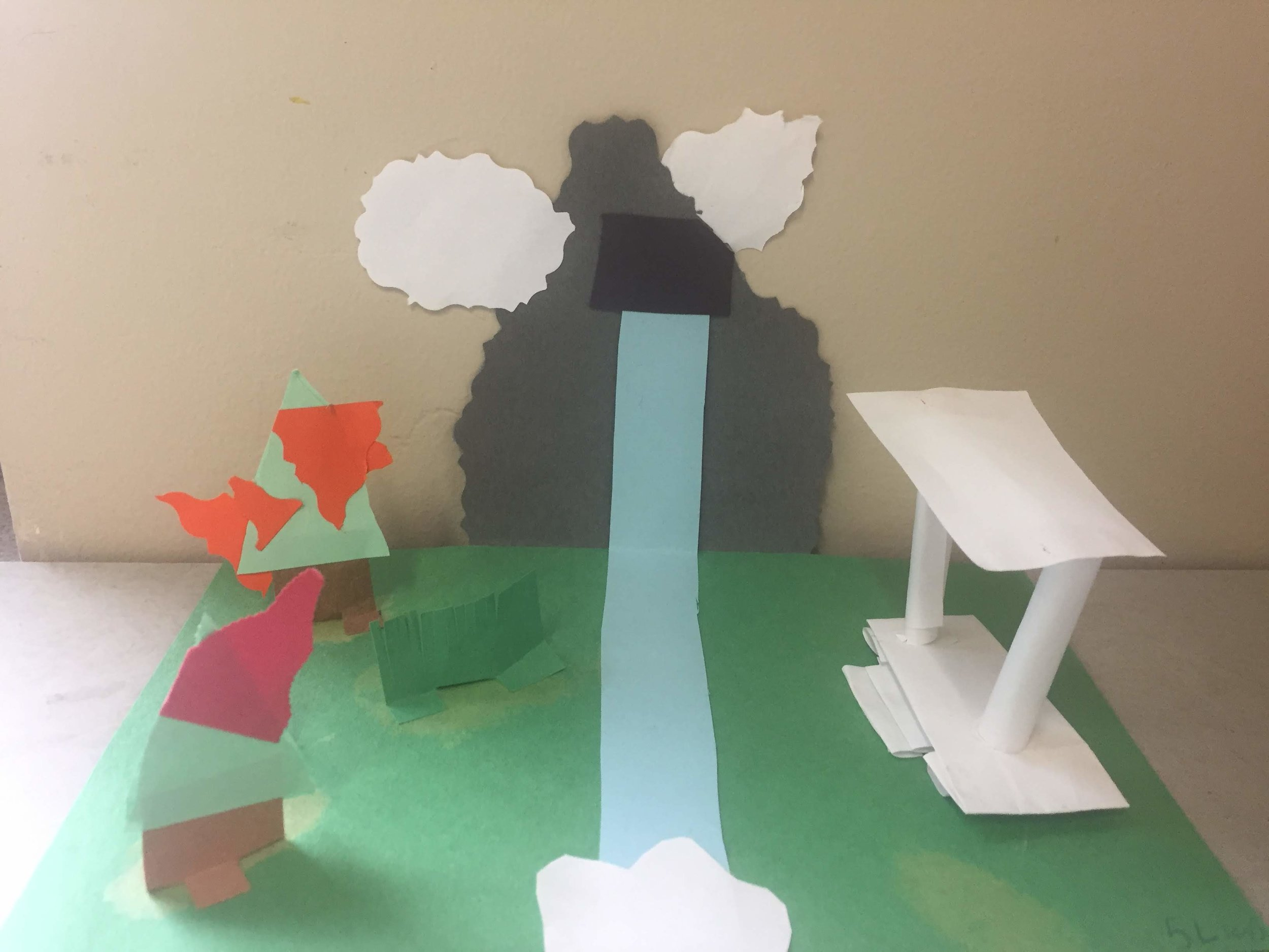 Paper Sculpture by fifth grade artist, Jurem (Leurquin)