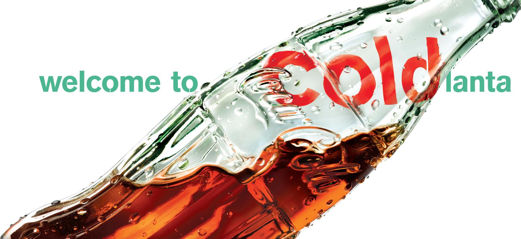 """BarberWarren Coca-Cola Green Glass Bottle Refreshment """"Coldlanta"""""""