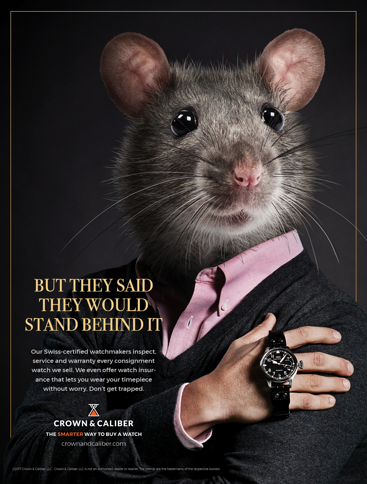 "BarberWarren Crown & Caliber ""Mouse"" print ad"