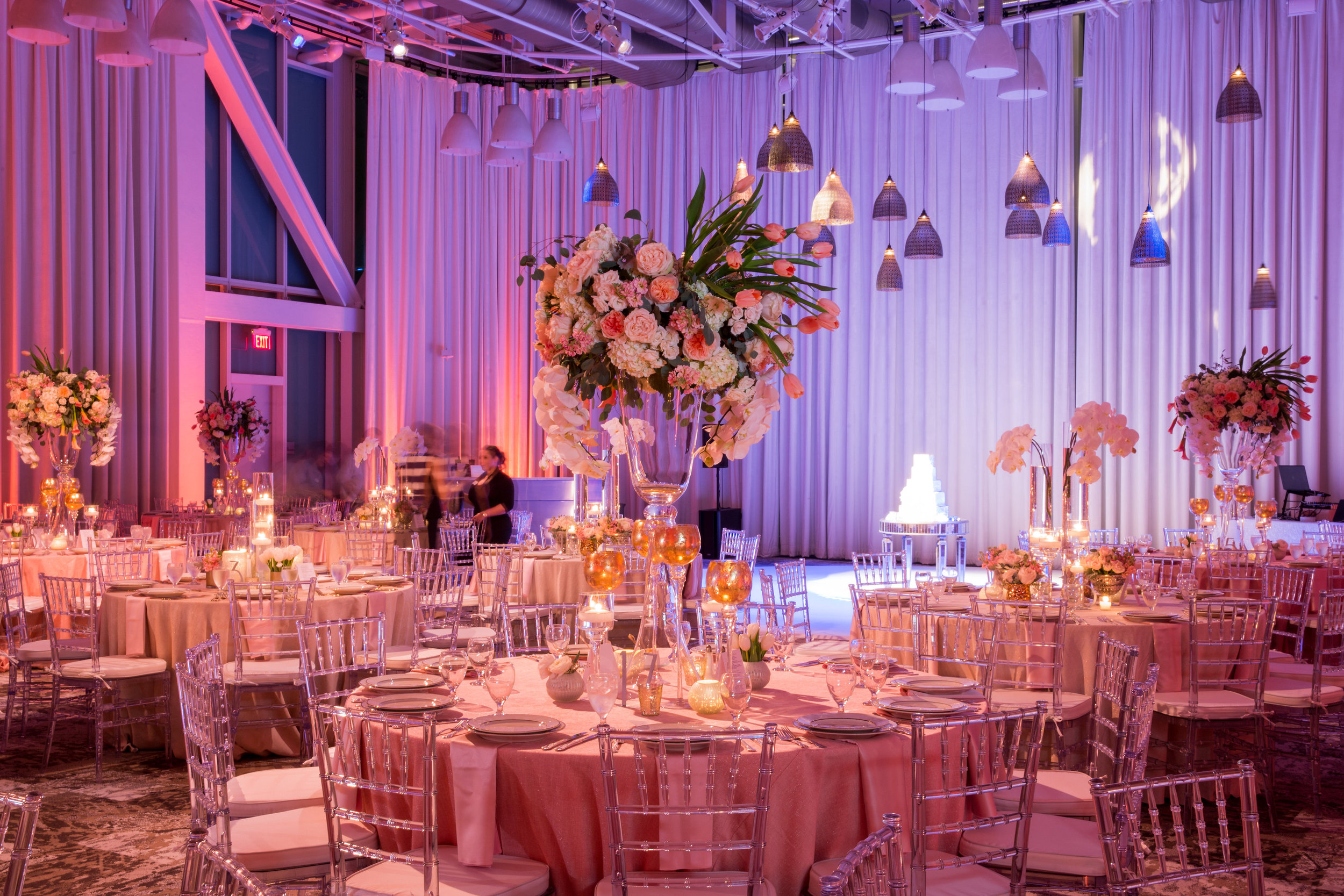 Large Flower Centerpiece for Wedding at Dr. Phillips Center for the Performing Arts