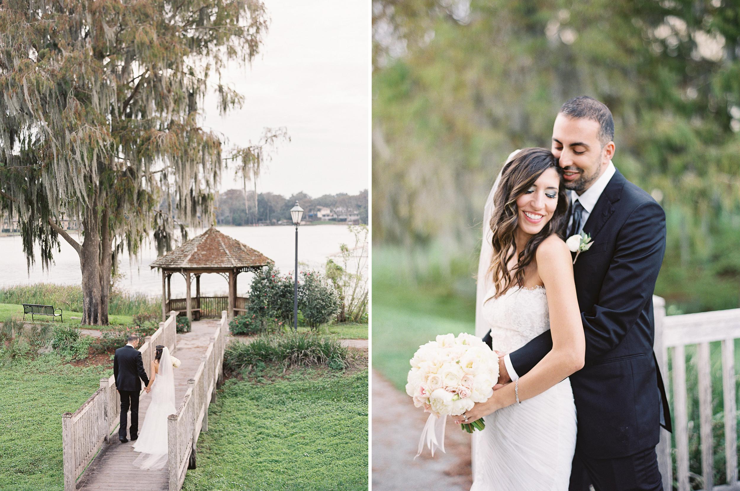 Beautiful Outdoor Wedding in Florida Groom Kissing Bride Photos
