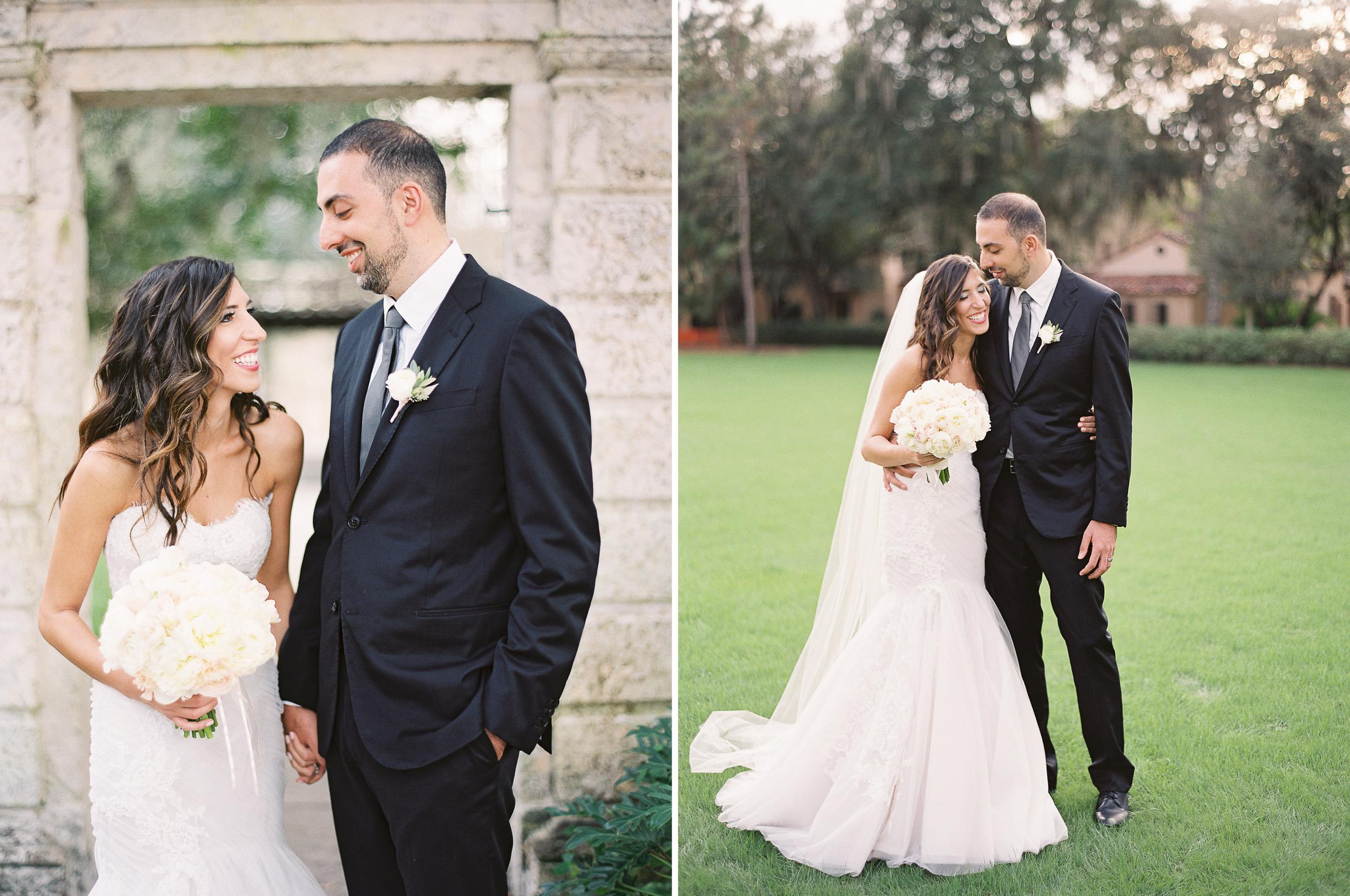 Orlando, Florida Outdoor Wedding Cute Bride and Groom Photos