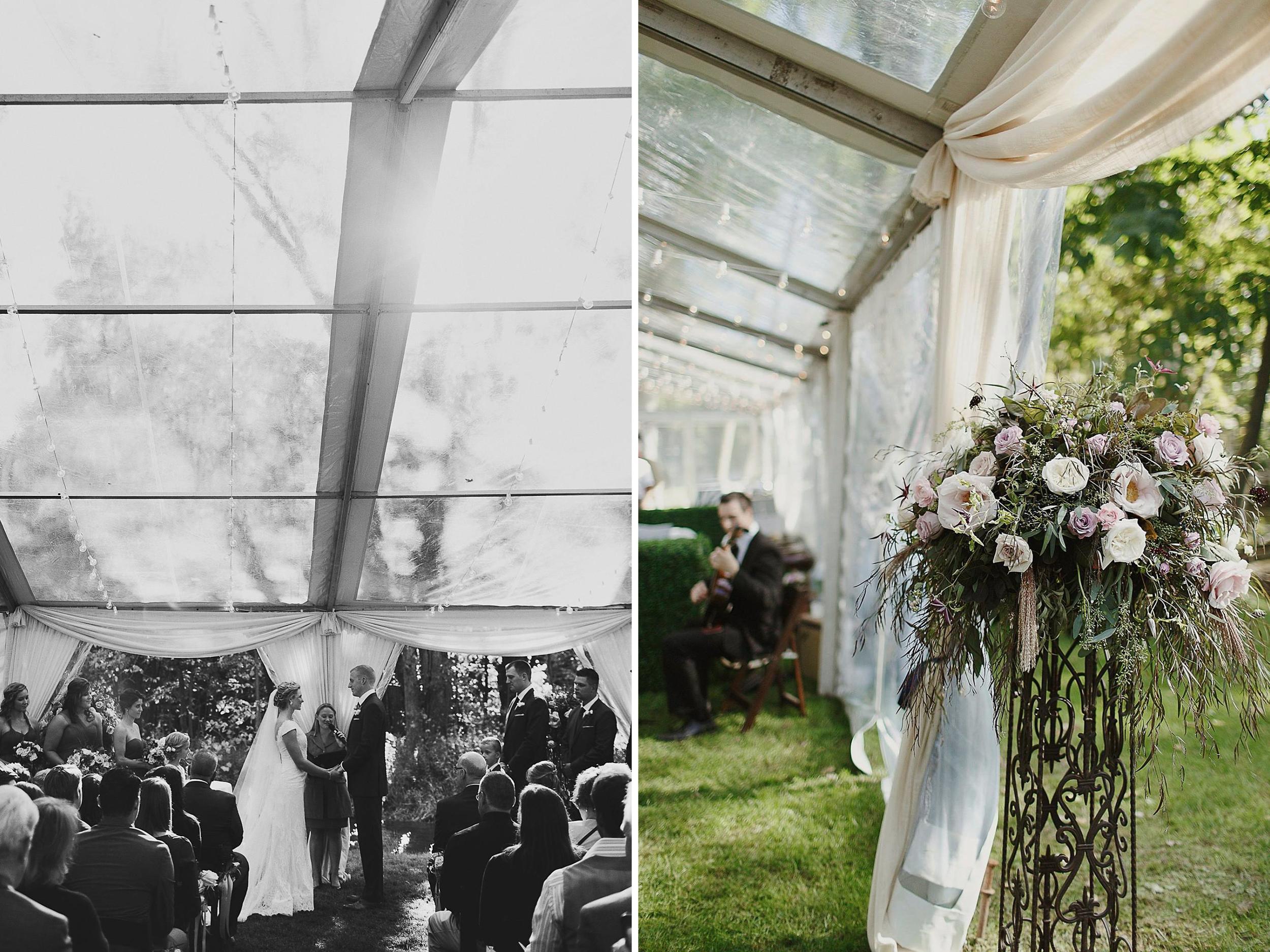 Blythefield Country Club Tented Wedding Near River