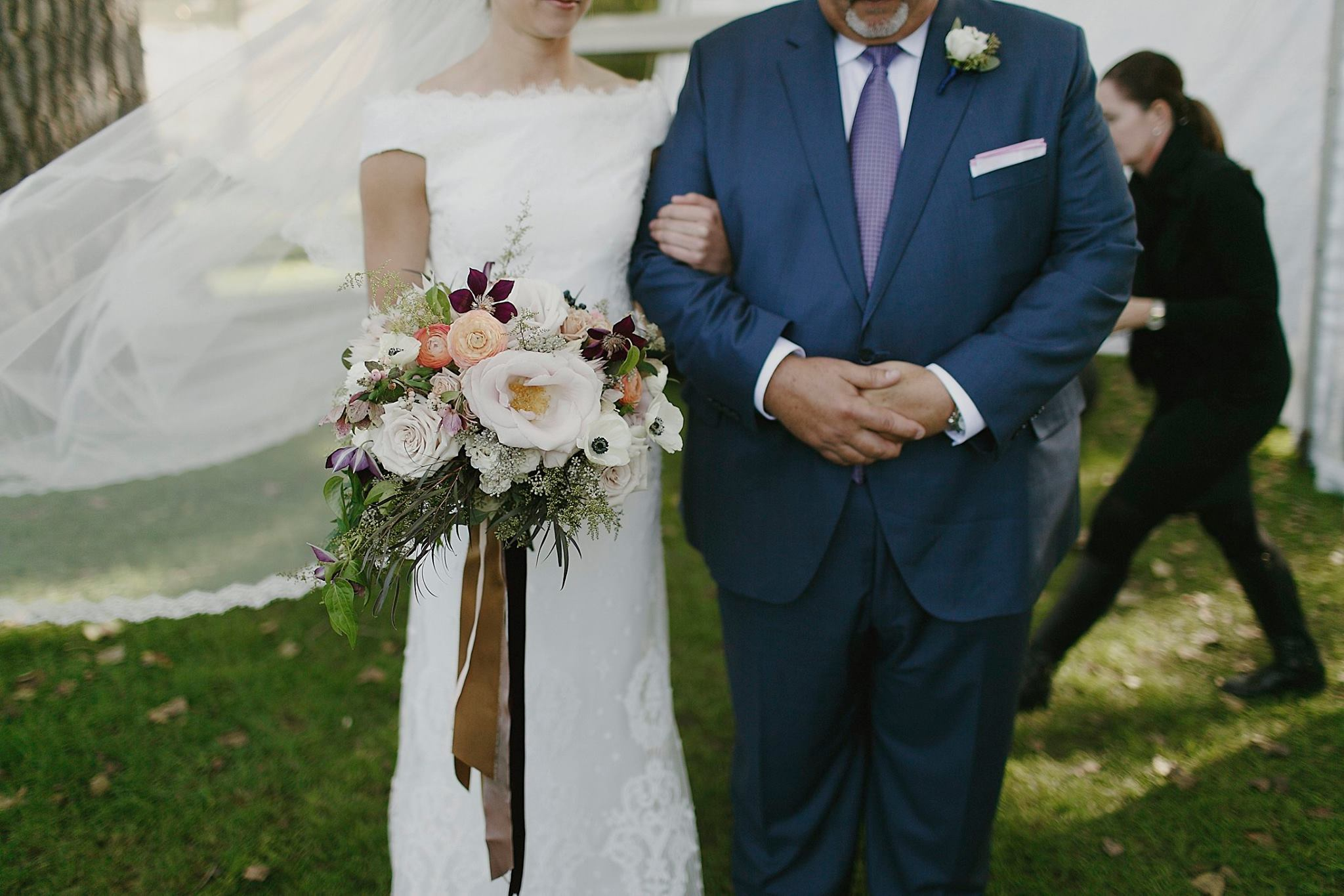 Blythefield Country Club Wedding Ceremony Bride and Father