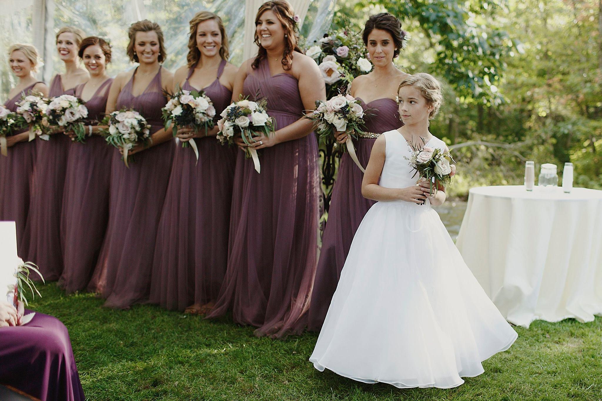 Grand Rapids, Michigan Wedding Flower Girl Photos