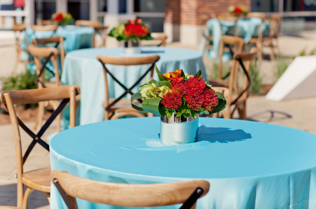 Grand Rapids, Michigan Event Blue Linen and Florals