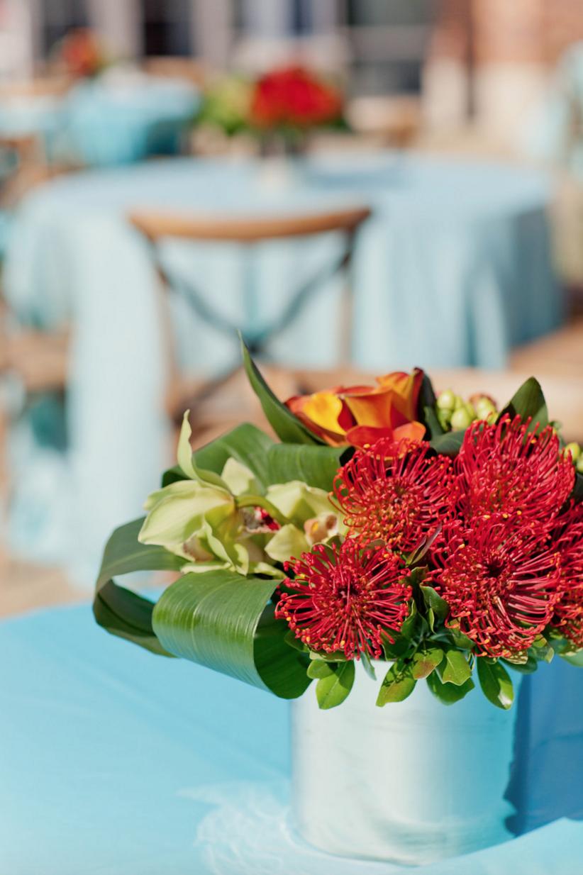 Grand Rapids, Michigan Bright Flower Arrangements for Event
