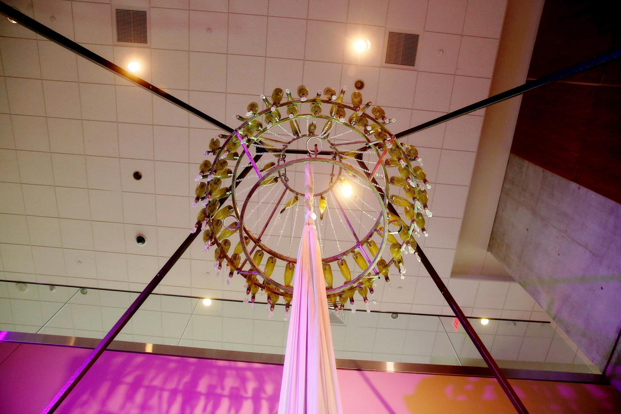 Downtown Grand Rapids Event with Circus Acrobat