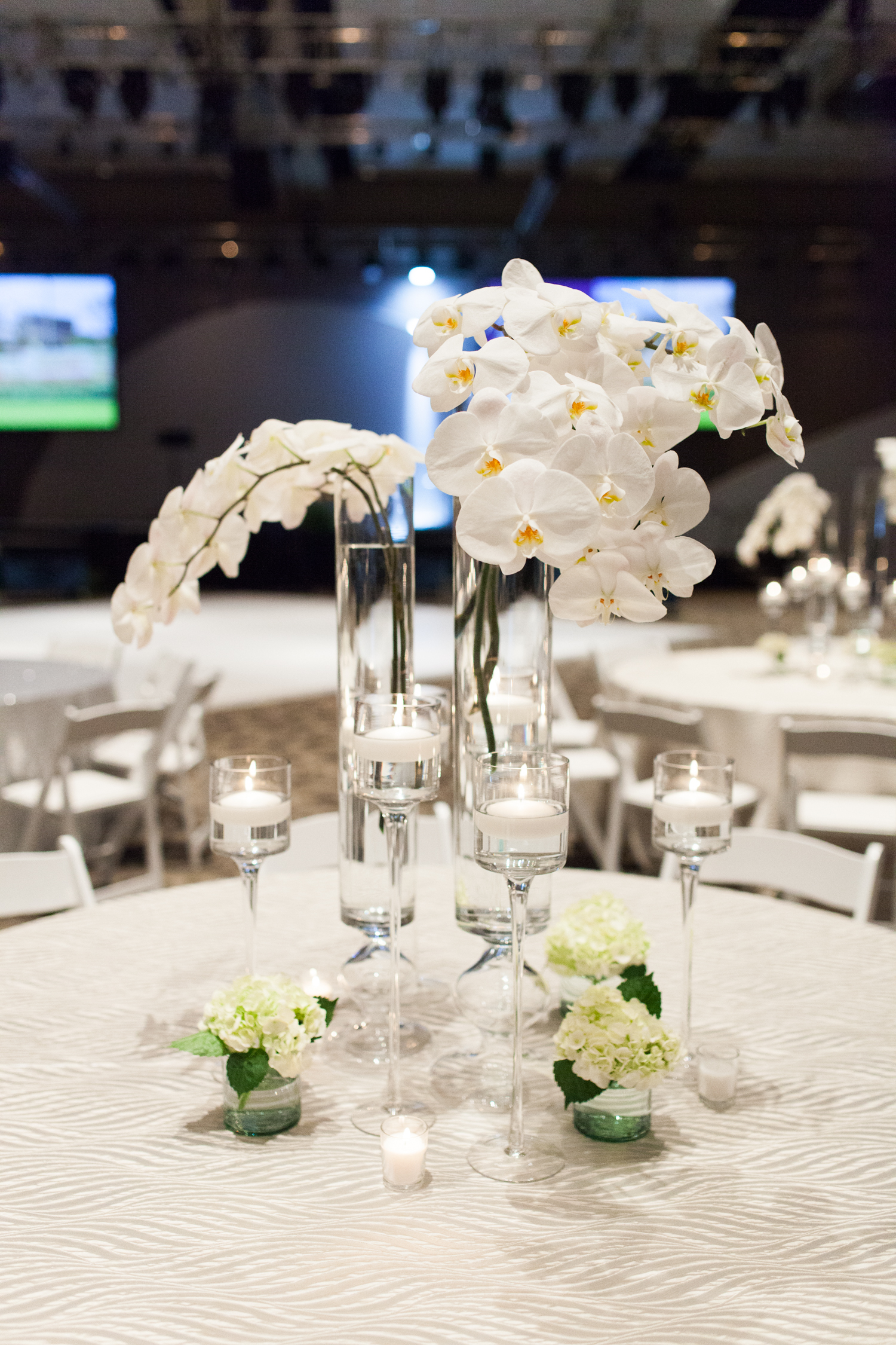 Grand Rapids, Michigan Event Orchid Centerpiece