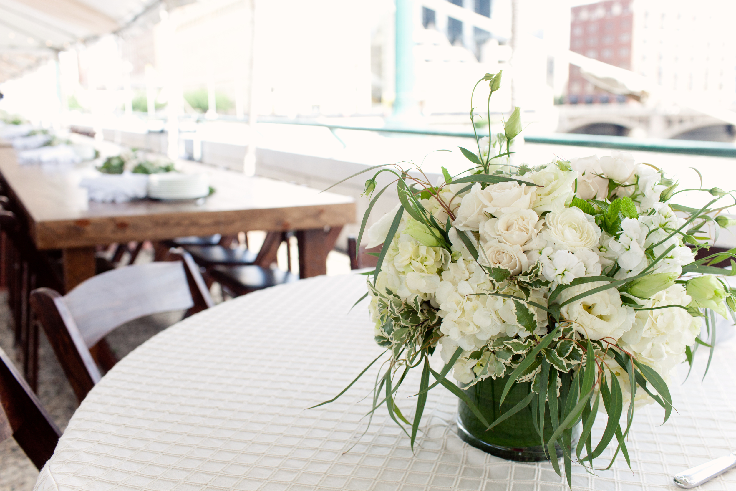 Gillette Bridge in Grand Rapids Event with Floral Centerpieces