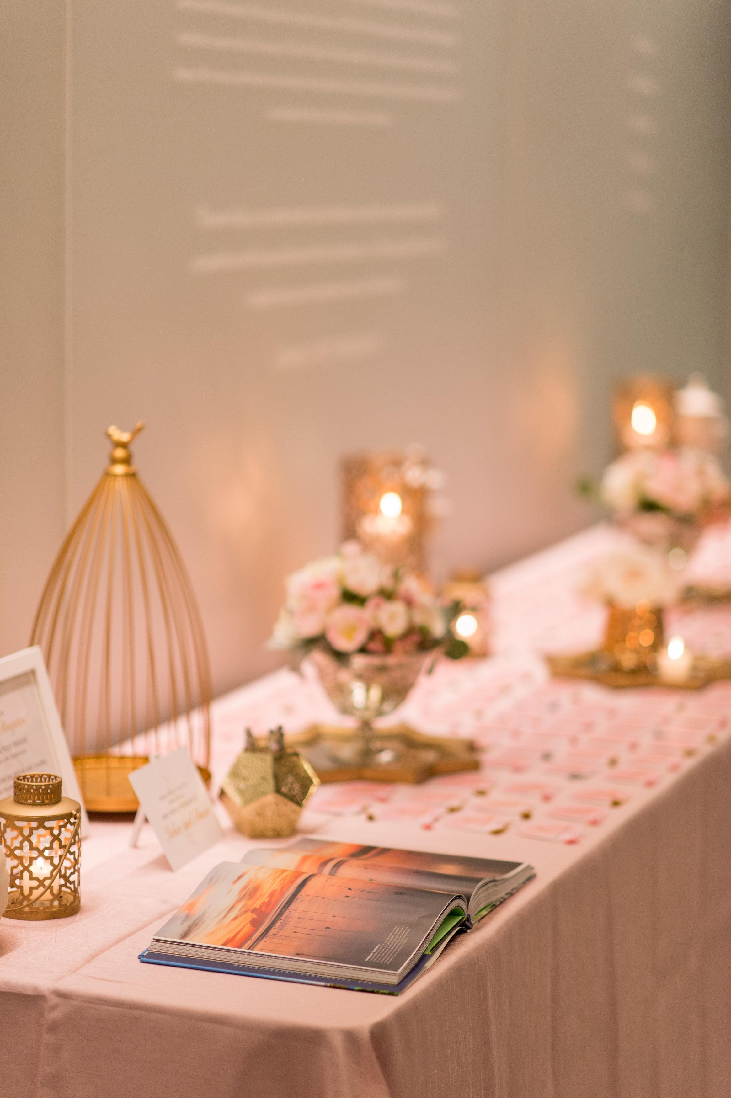 Beautiful Wedding Details at Reception in Orlando, Florida