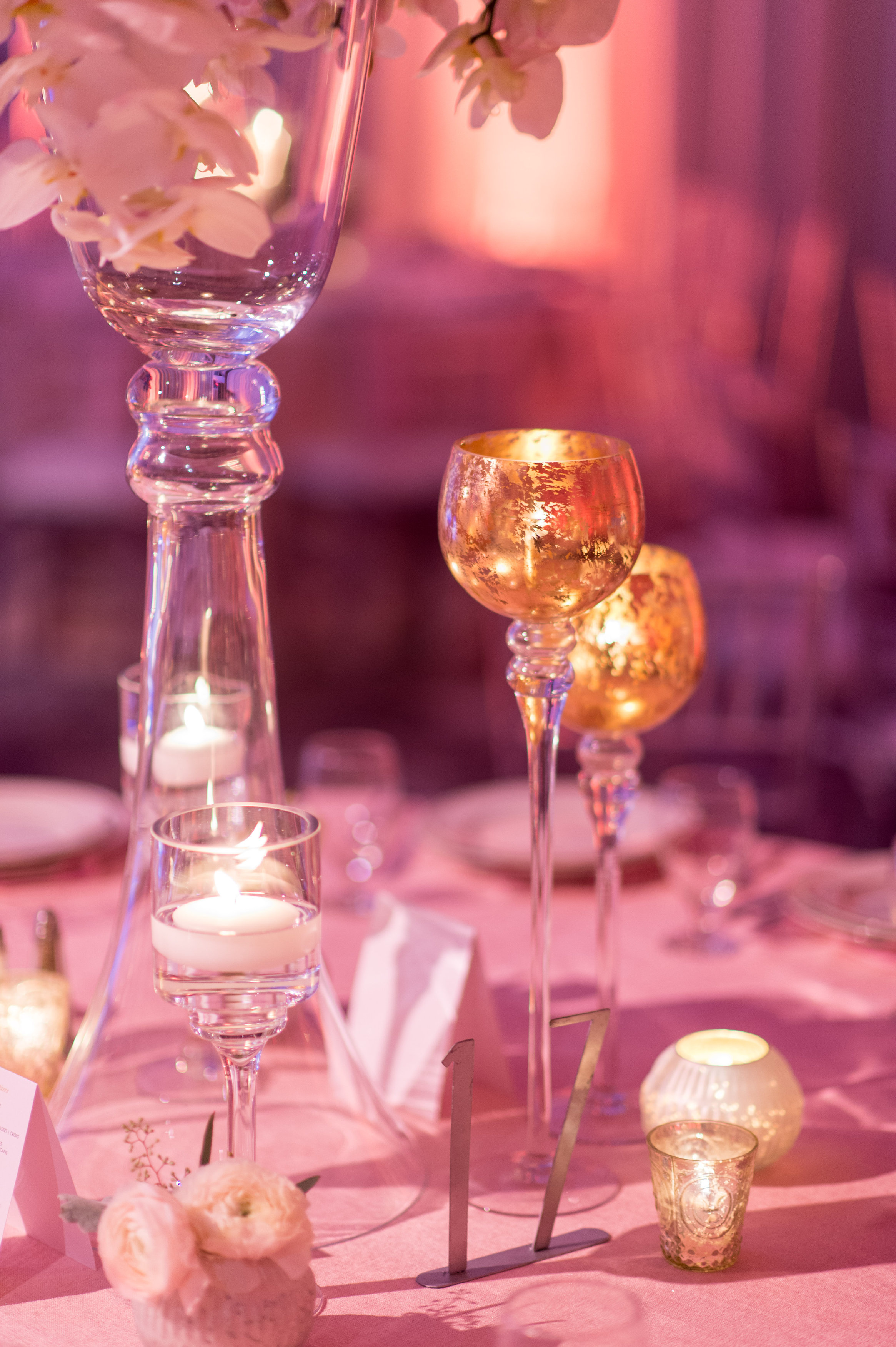 Florida Candlelight Dinner Wedding Reception Photos