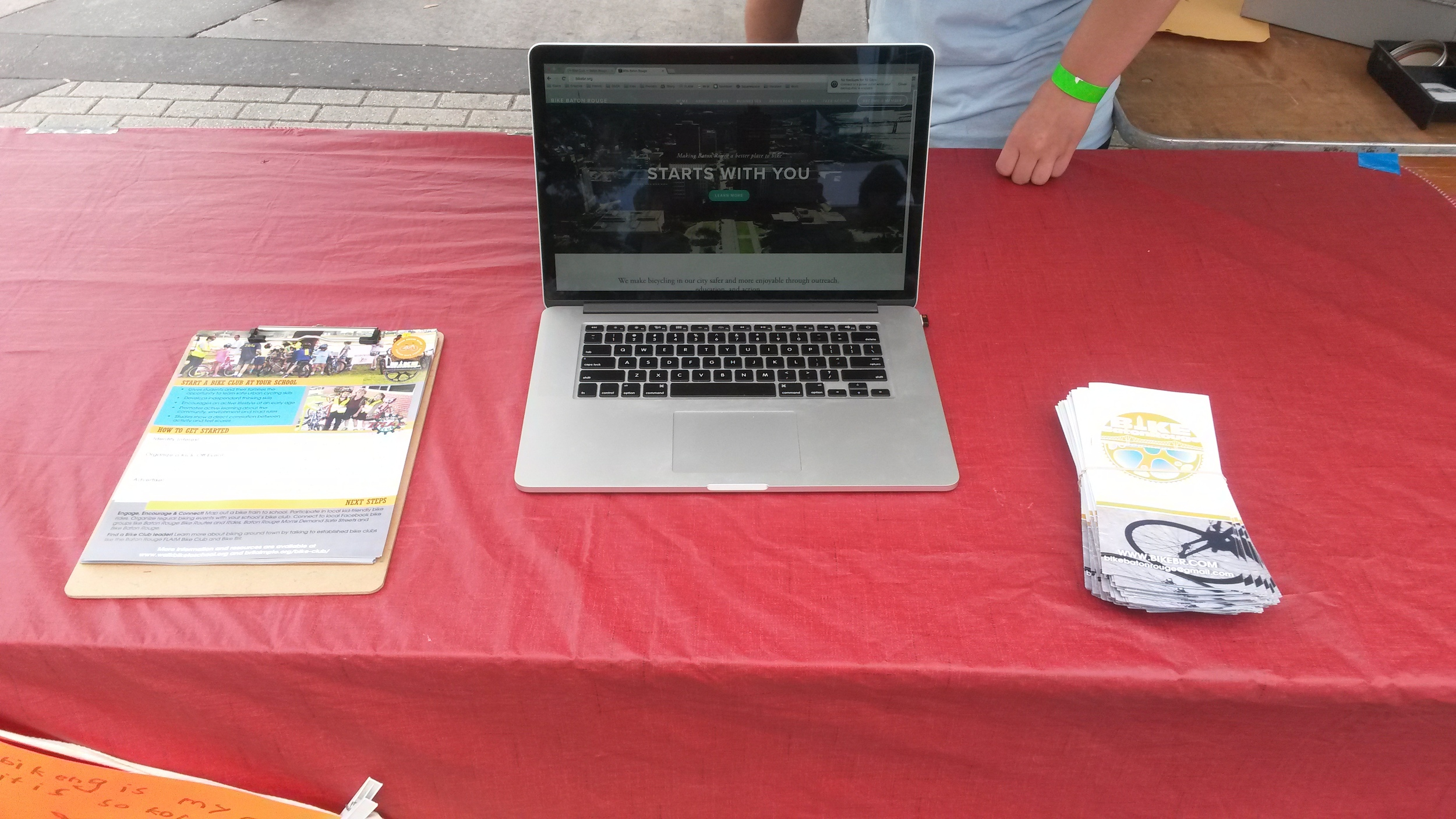We have a table set up at Earth Day!