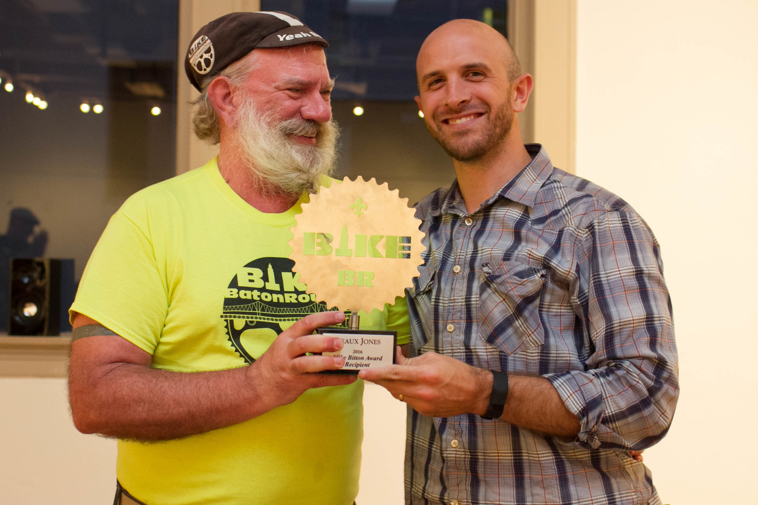 Outgoing Bike Baton Rouge Mark Martin (left) and Beaux Jones (Photograph by Irene Kato)