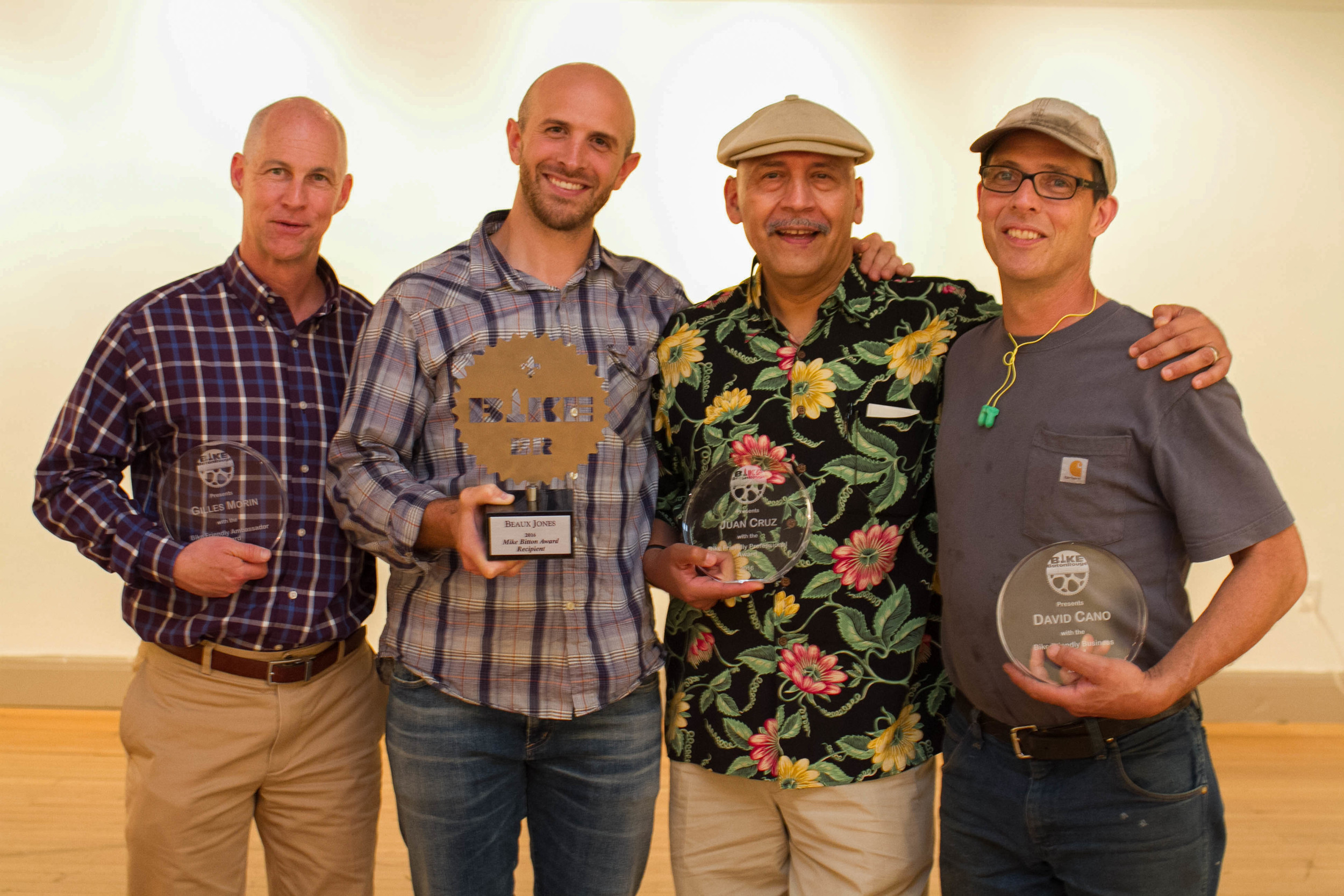 Left to Right - Gilles Morin, Beaux Jones, Juan Cruz and Dave Cano (Photograph by Irene Kato)