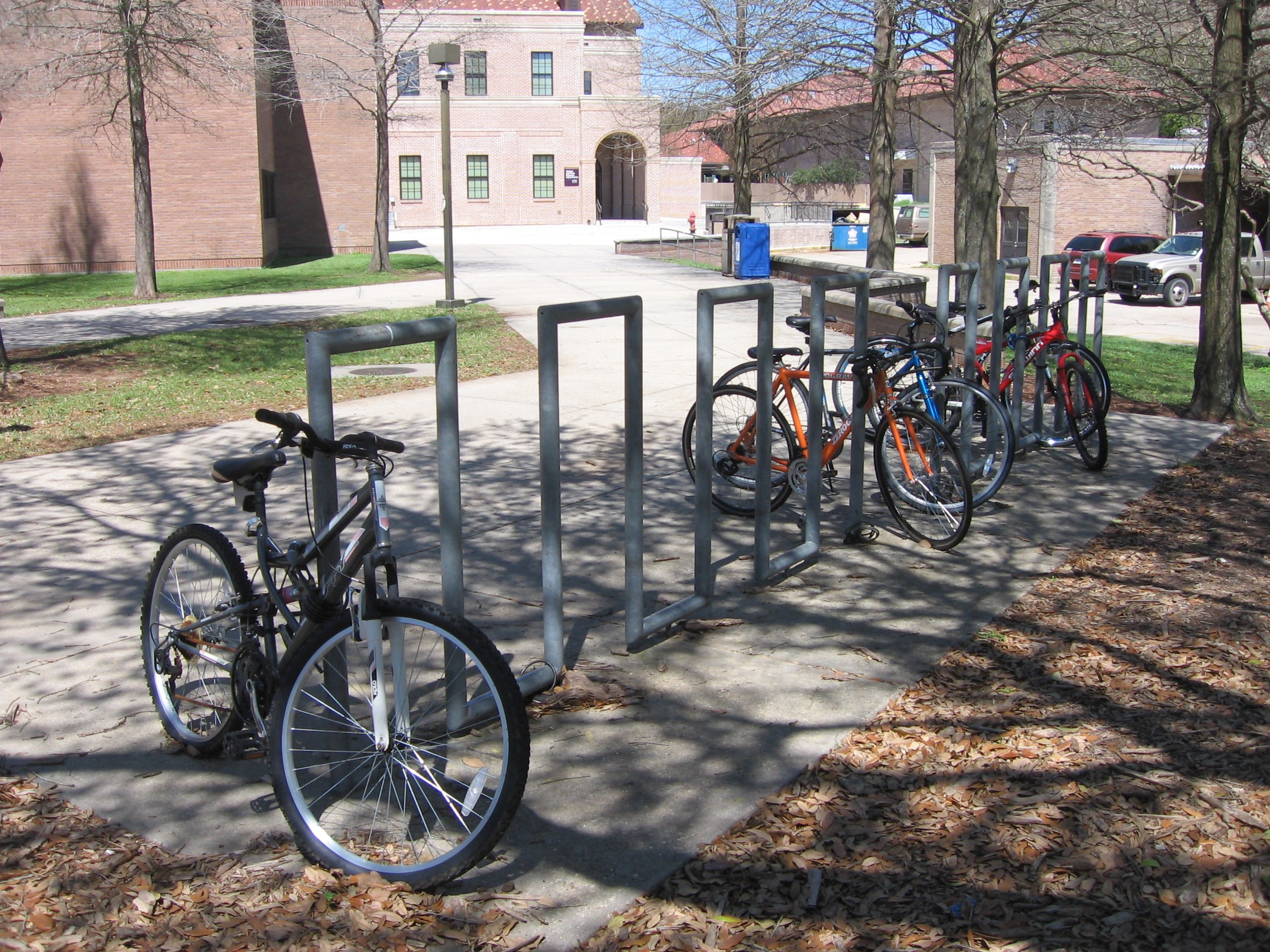 Bike Parking near the Stadium at LSU