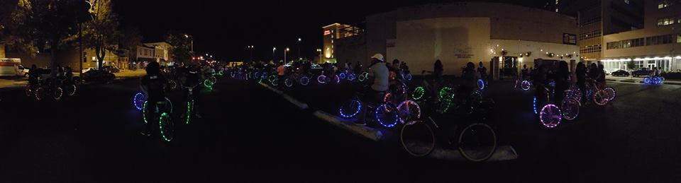 Public social ride downtown led by Geaux Ride.