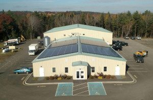Click photo to see daily/monthly solar energy production and environmental contributions at the Bar Harbor Community Solar Farm