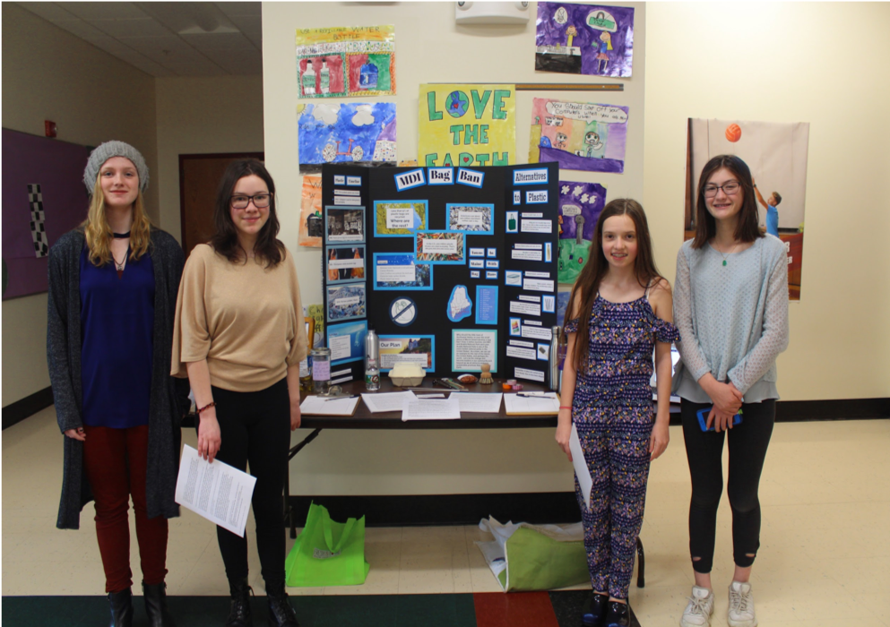 October 2018: Parting with Plastic on MDI - 8 Educational Presentations by Southwest Harbor students