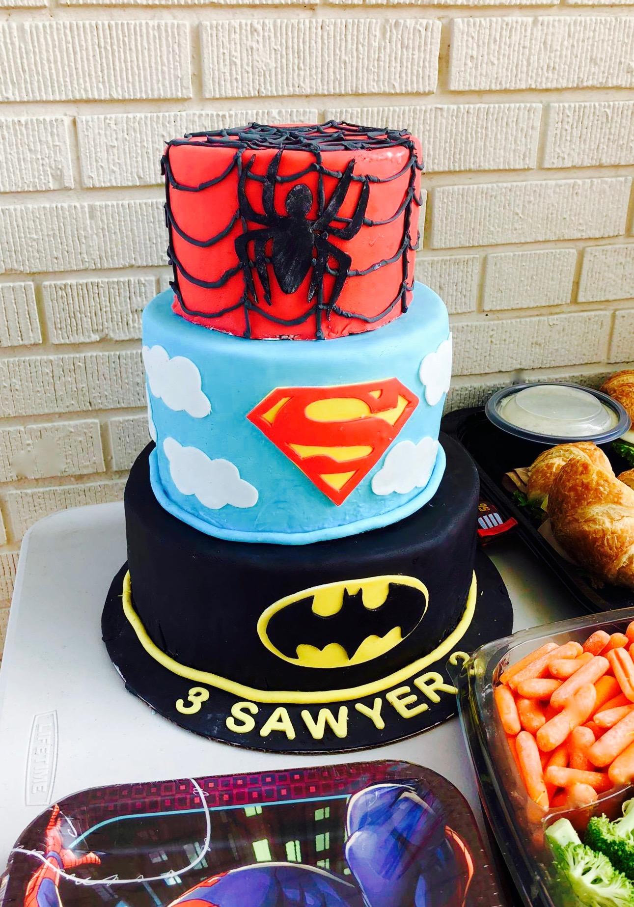 Super superhero cake!!