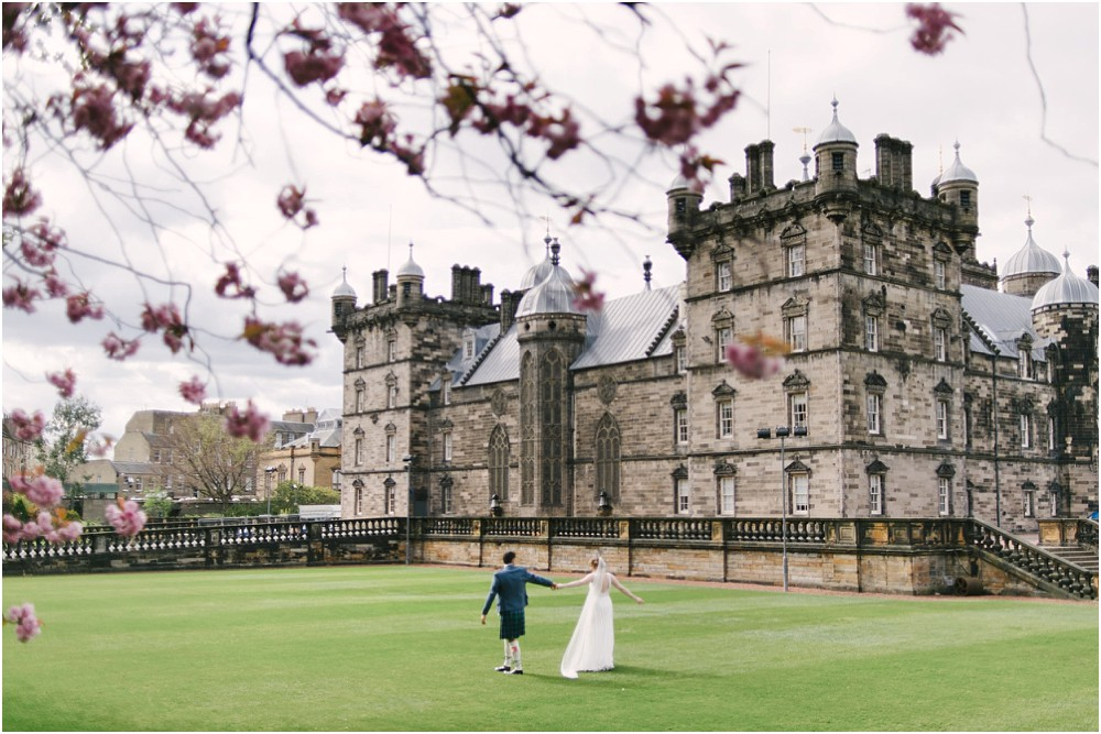 Bridal photography at George Heriot's in Scotland