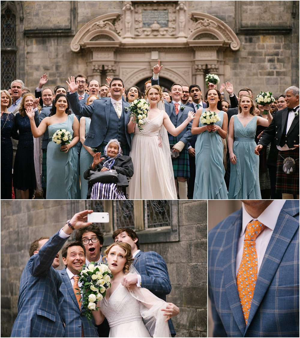 Wedding photography at George Heriot's in Edinburgh Scotland