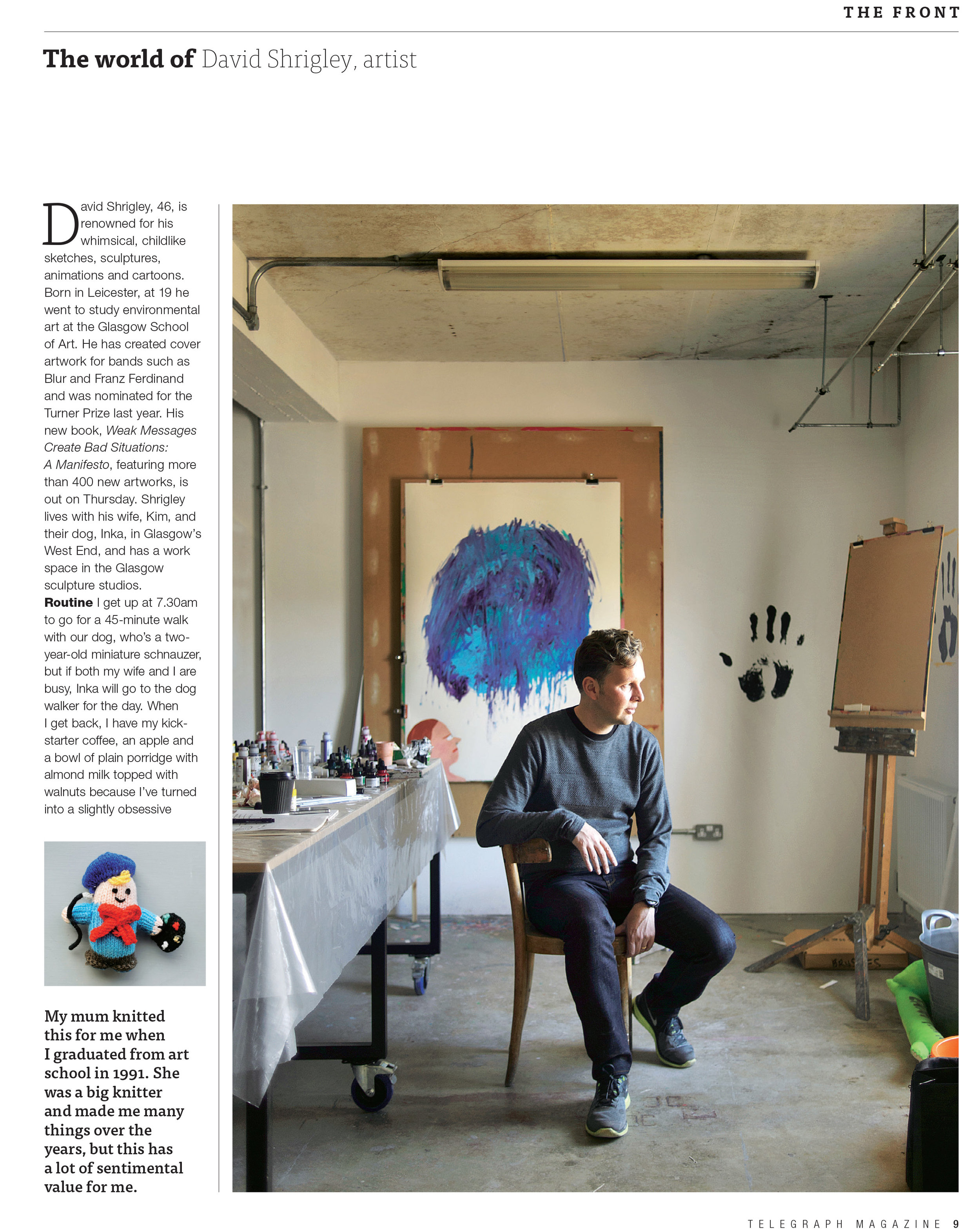 Portrait of David Shirley for The Telegraph Magazine