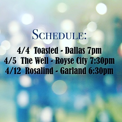 Upcoming Shows! #livemusic #dallasevents #rileyrileymusic #coffee&music #joinus