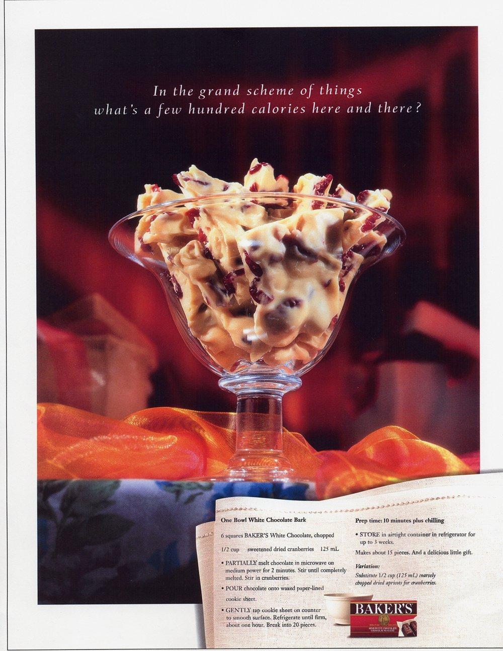 "Baker's Chocolate - ""Calories"""