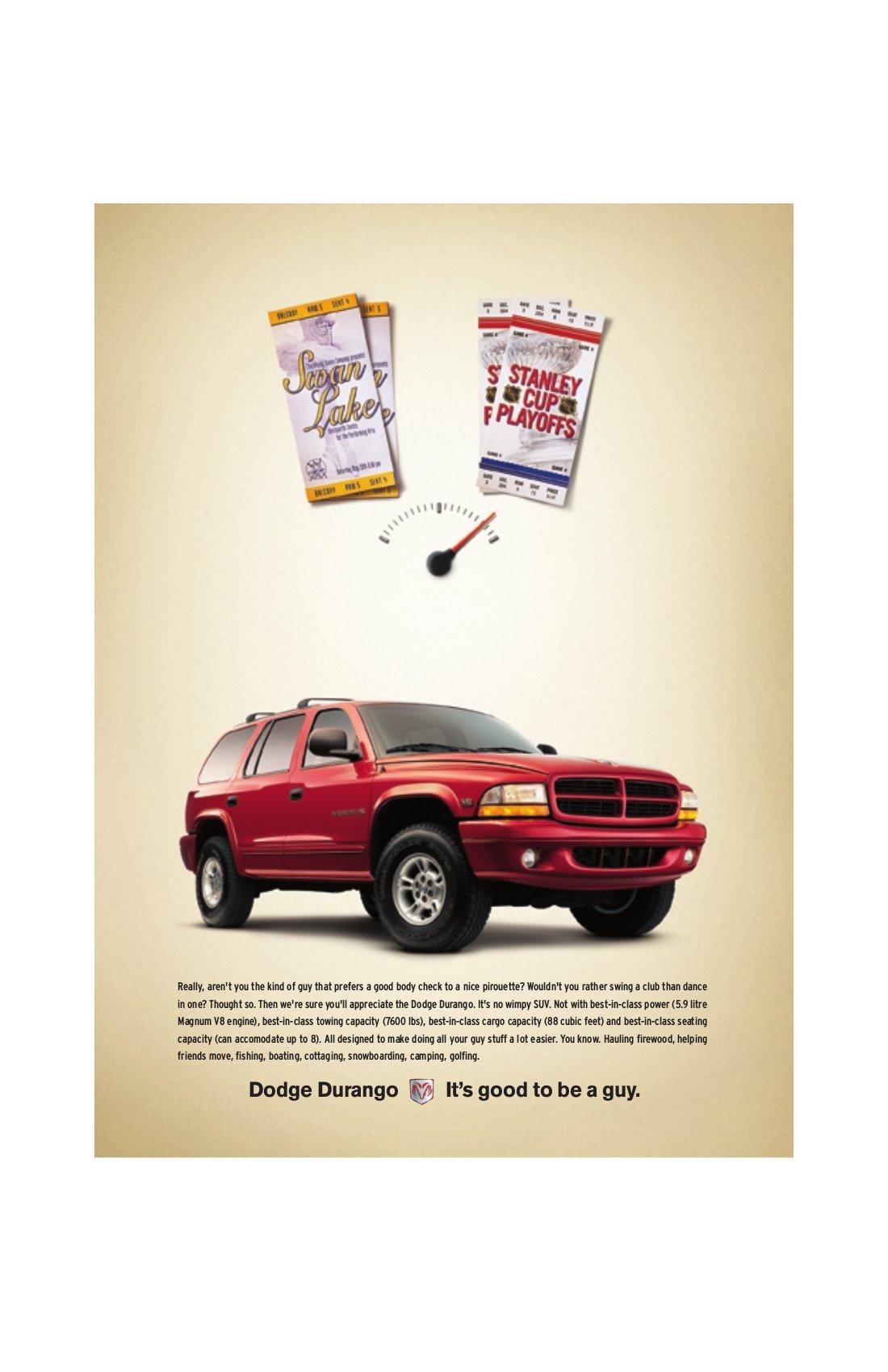 """Dodge Durango  Magazine - """"Tickets"""""""