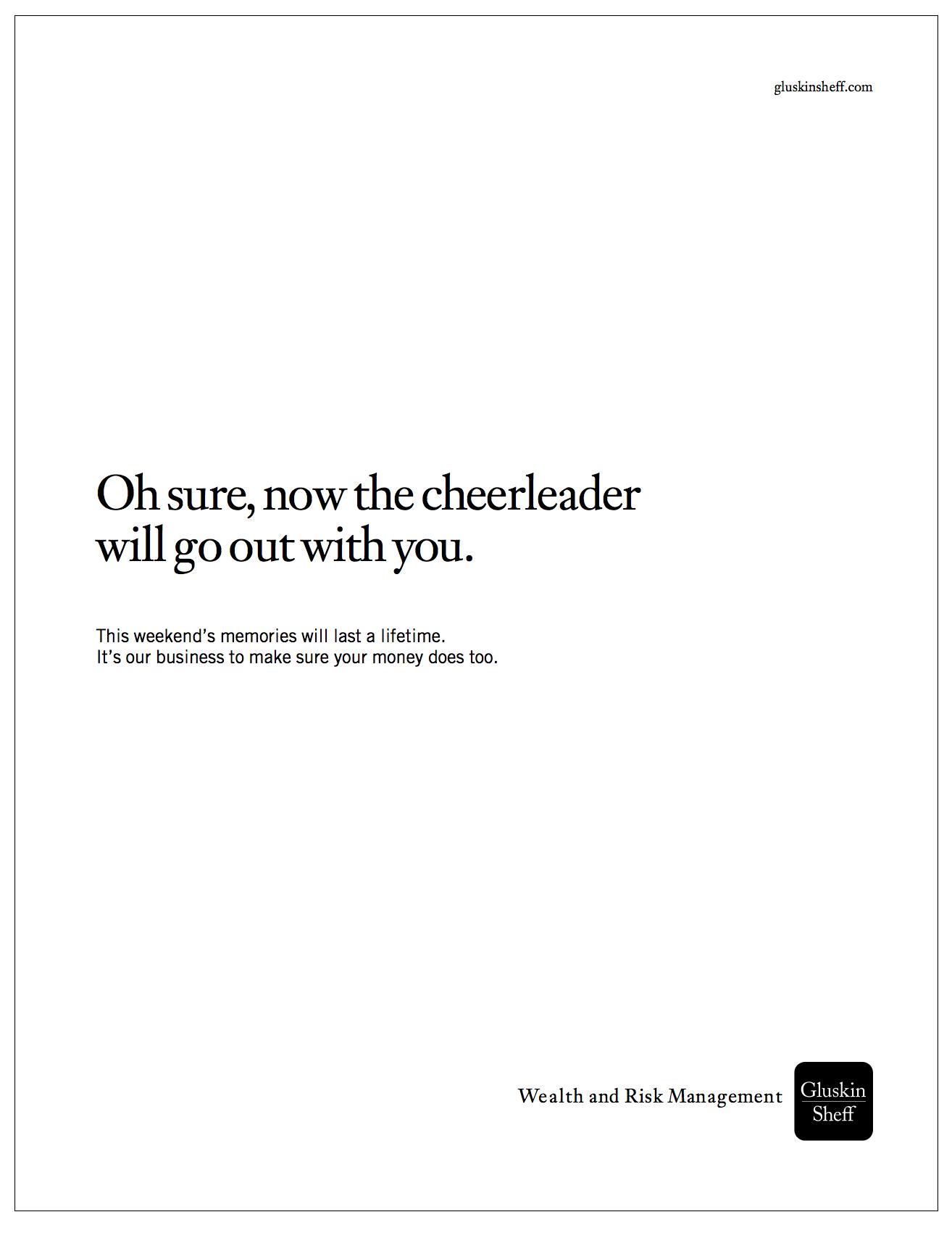"""Gluskin Sheff - Outremont HS Reunion - """"Cheerleader"""""""