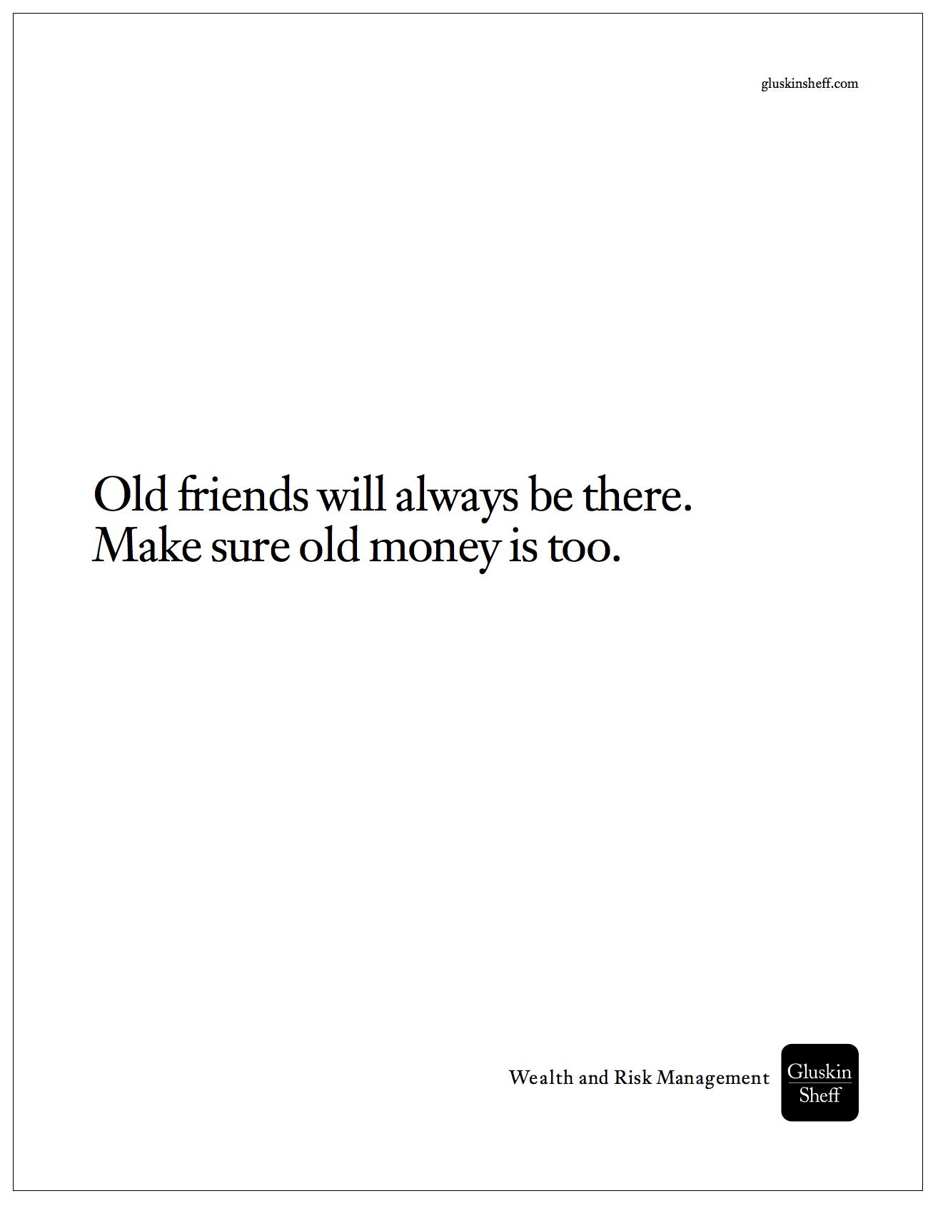 """Gluskin Sheff - Outremont HS Reunion - """"Old Money"""""""